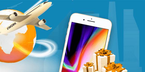 Розыгрыш iPhone 8 + деньги от Kwork
