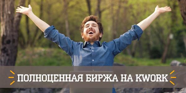 На kwork.ru запущена полноценная биржа