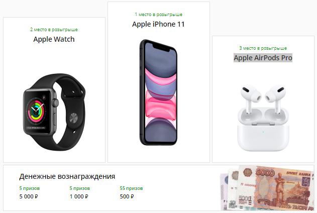 Kwork разыгрывает iPhone 11 и более 60-ти других подарков
